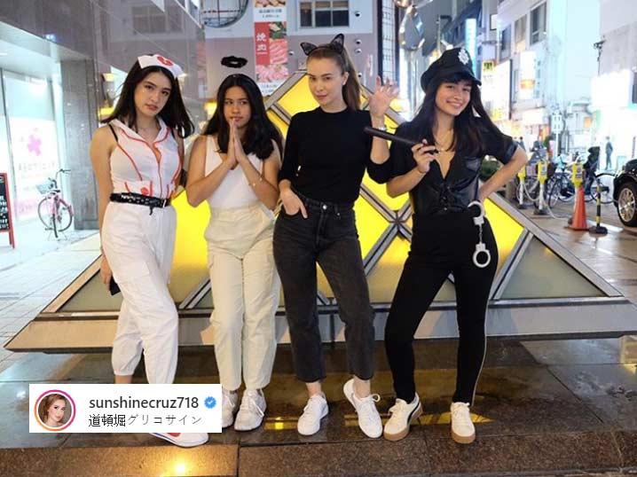 Sunshine Cruz daughters Samantha, Chesca, Angelina Halloween 2019