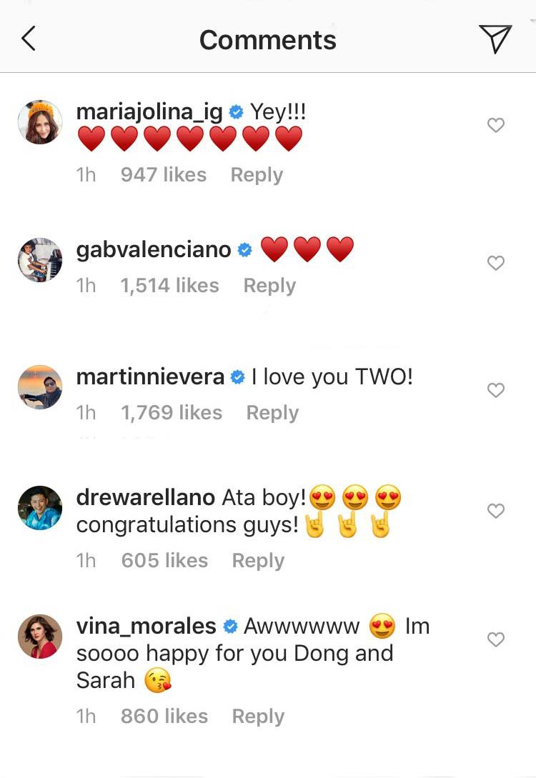 Sarah-Matteo engagement reactions