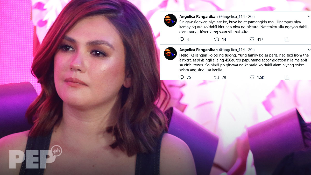 Angelica Panganiban reveals family's ordeal in Paris; vows to put French driver in prison