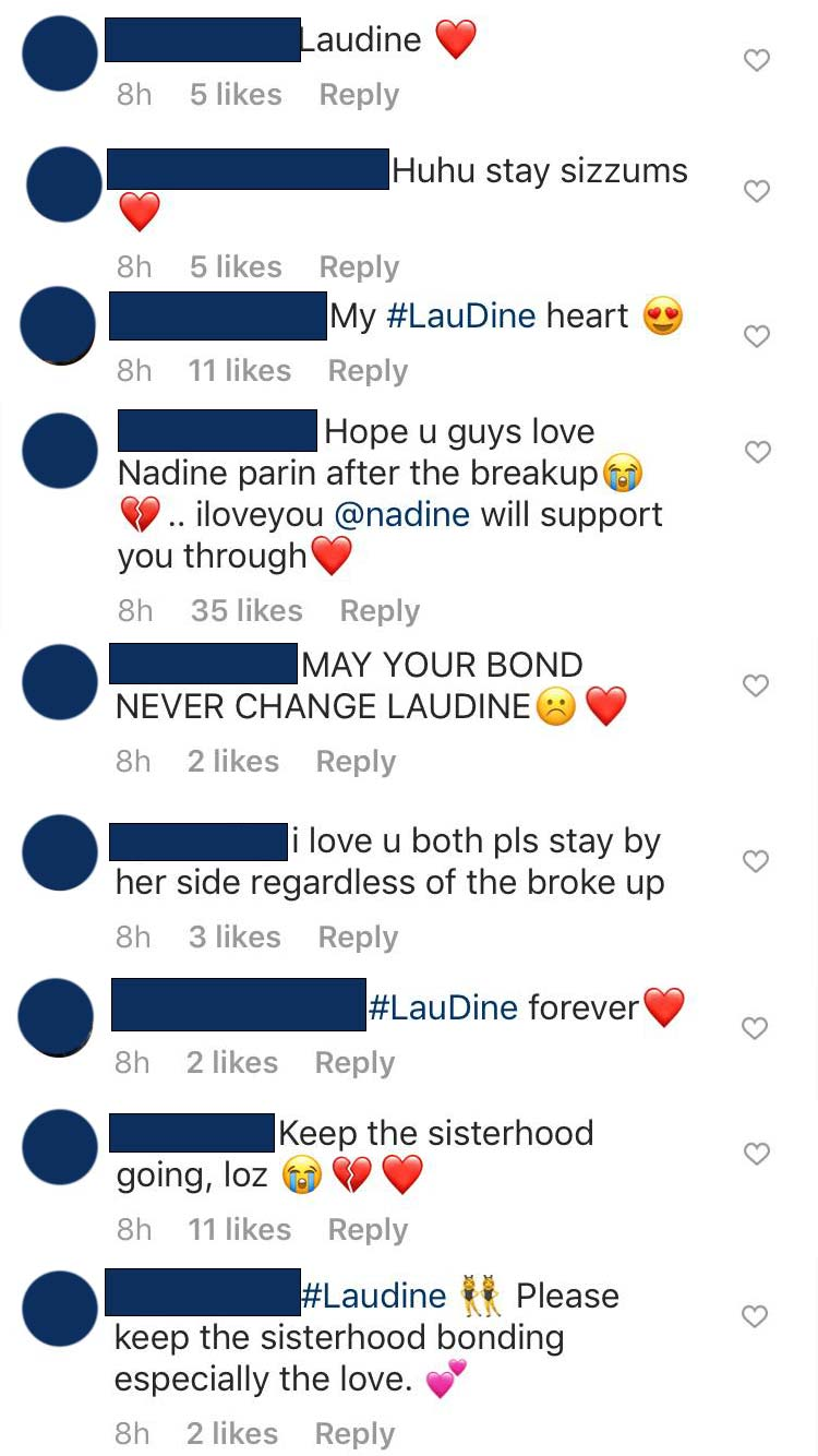 Lauren Reid, Nadine Lustre, Laudine