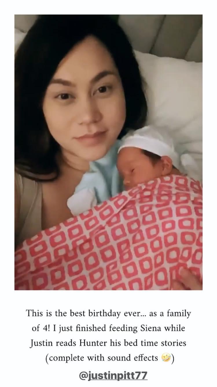 Cristalle Belo daughter Siena