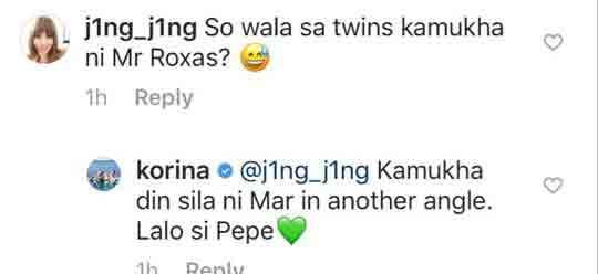 Korina Sanchez twins pepe and pilar