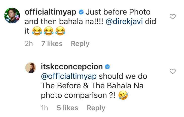 Tim Yap exchanges Instagram messages with KC Concepcion
