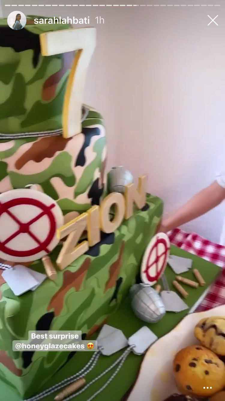 Zion Gutierrez 7th birthday cake at home
