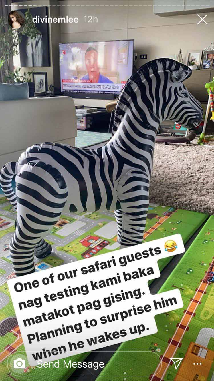 Divine Lee puts together a safari-themed birthday for son Baz
