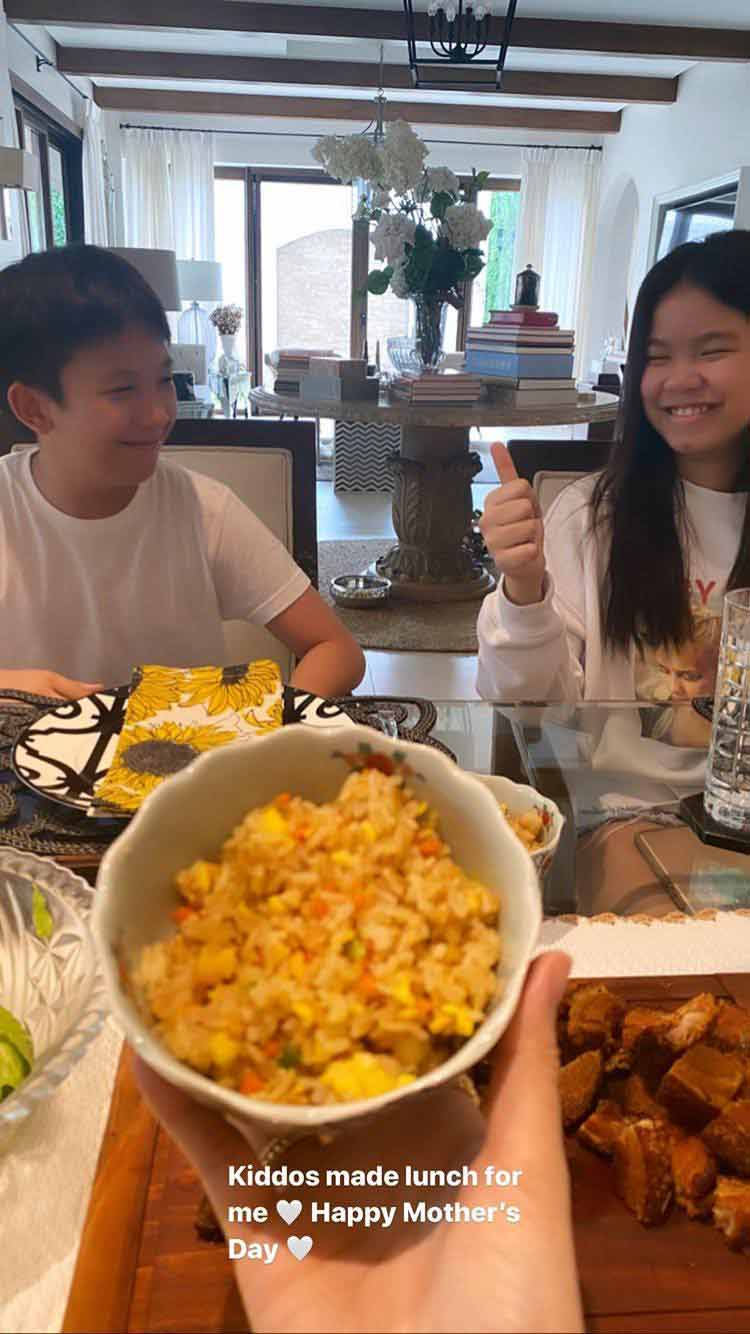 Heart Evangelista Mother's Day lunch with Chiz Escudero's kids Quino and Chesi