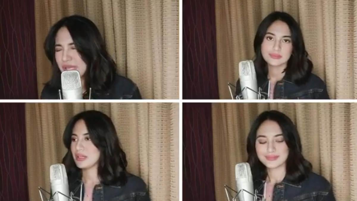 Julie Anne San Jose in four split frames from her Instagram account