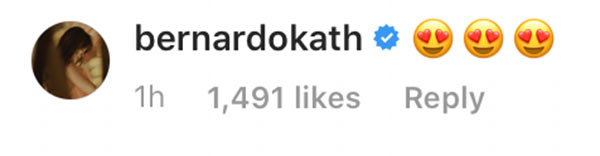 Kathryn Bernardo's comment on Marian Rivera's Instagram post