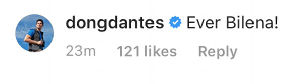 Dingdong Dantes comment