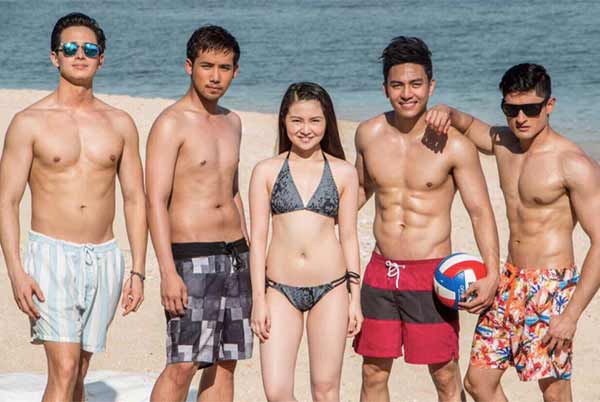 The cast of Meant To Be (L-R): Ivan Dorschner, Ken Chan, Barbie Forteza, Jak Roberto, Addy Raj