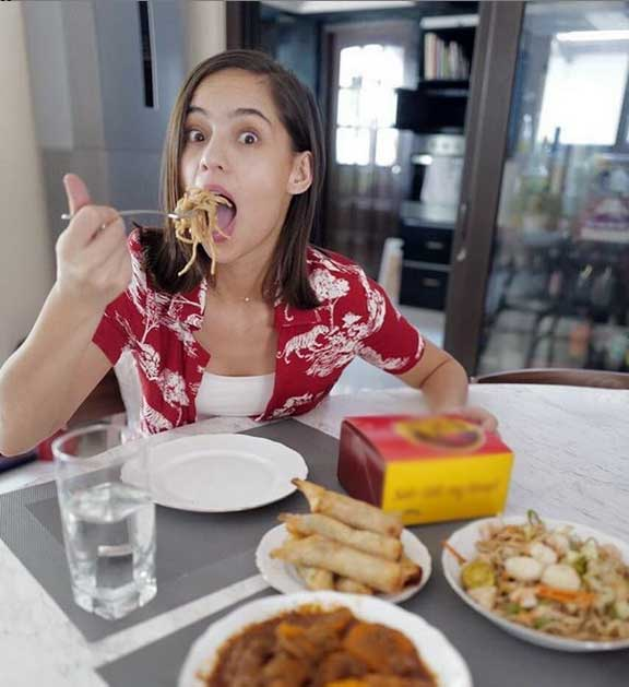 Jasmine Curtis Smith eating
