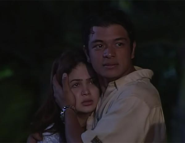 Kristine Hermosa and Jericho Rosales in Pangako Sa 'Yo.