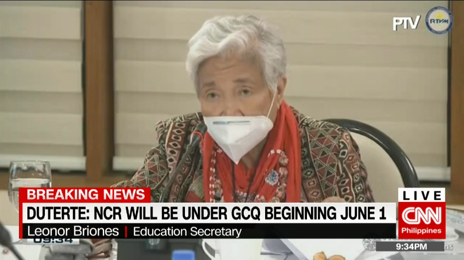 DepEd Secreatary Leonor Briones