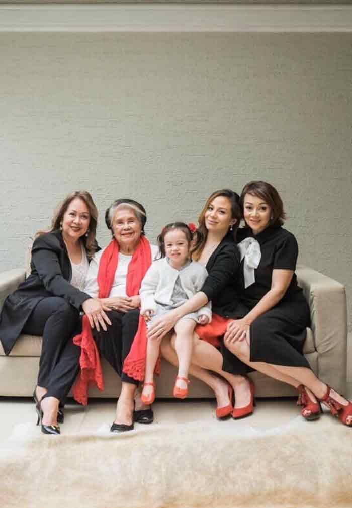 Nikka Garcia five generations of women in the family