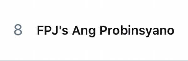 FPJ's Ang Probinsyano trending topic