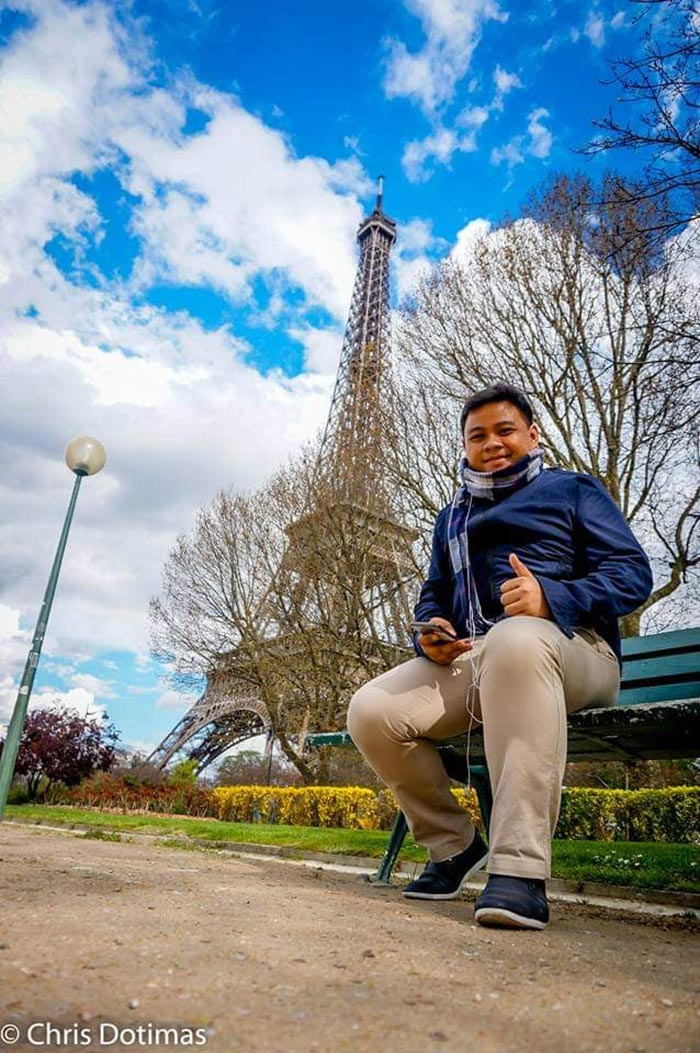 Christopher by the Eiffel Tower