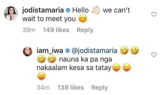 Jodi Sta. Maria congratulates Iwa Moto for pregnancy