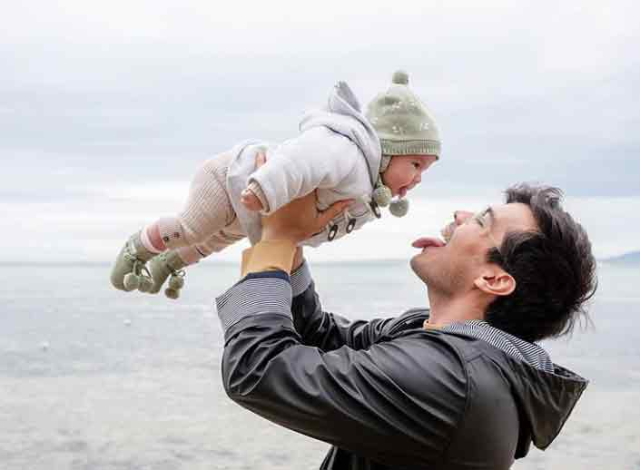 Erwan Heussaff with daughter Dahlia Amelie