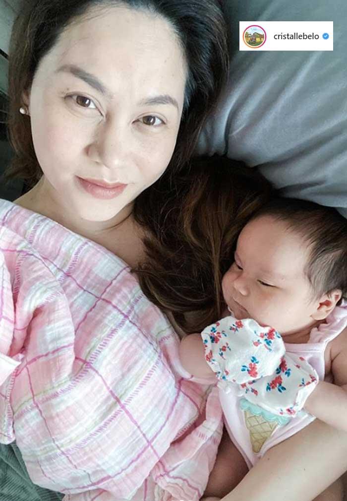 Cristalle Belo daughter Sienna