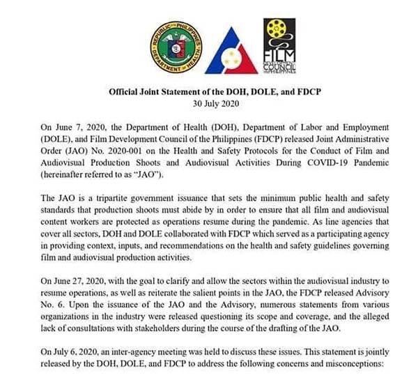 FDCP statement
