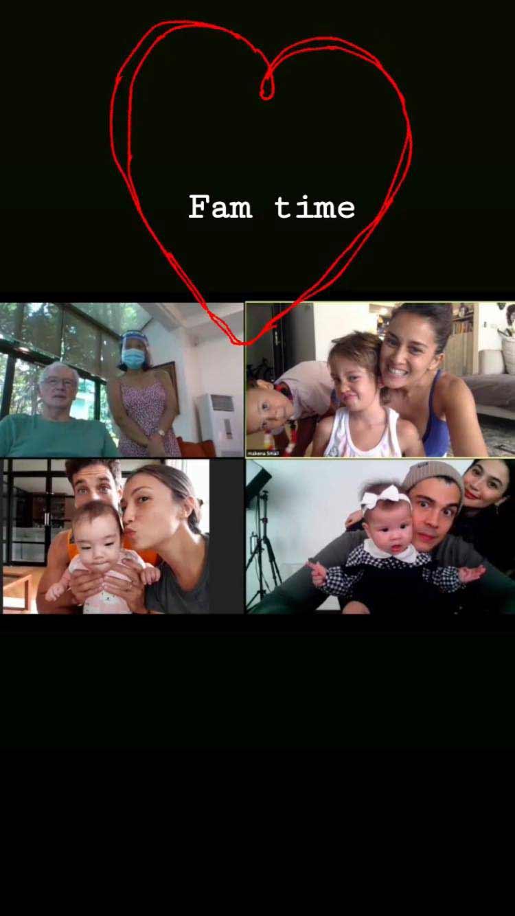 Cousins Dahlia Heussaff and Thylane Bolzico at Heussaff virtual family reunion