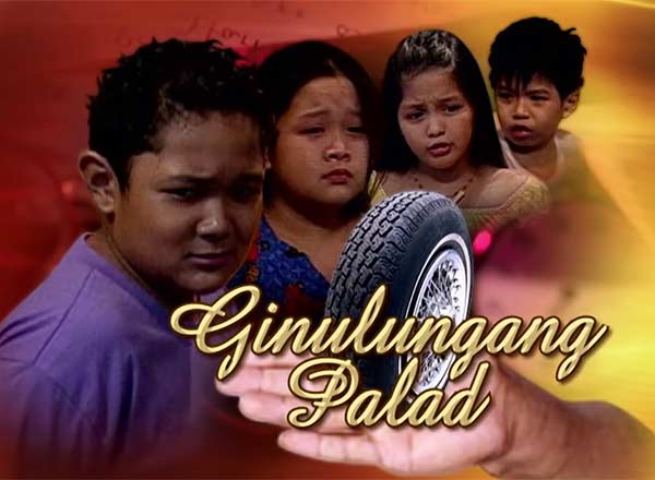 Alfred Labatos in Goin Bulilit's Ginulungang Palad segment with Hopia Legaspi, Jane Oineza, and Nash Aguas.
