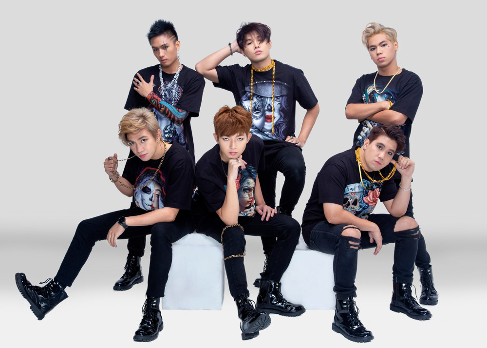 (L-R) 1st.One members: J, Ace, Jayson, Alpha, Max, and Joker