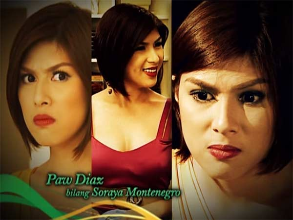 Paw Diaz as Soraya Montenegro in the remake of Maria la del Barrio.