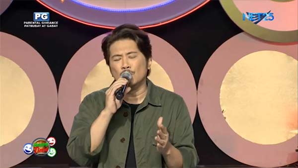 Janno Gibbs in his segment in Happy Time titled Janno Gives...