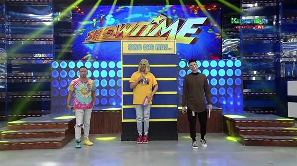 Jhong Hilario, Vice Ganda, and Vhong Navarro host the segment Mas Testing.