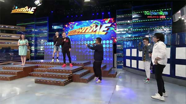 It's Showtime hosts during their opening spiels.