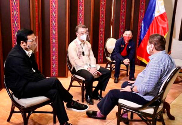 Lord Allan Velasco, Alan Peter Cayetano, Rodrigo Duterte