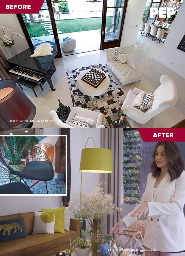 Bea Alonzo home, Bea Alonzo living room