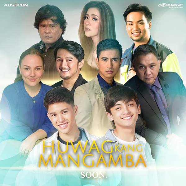 (L-R top row) Soliman Cruz, Angeline Quinto, Matty Juniosa, (middle row) Matet de Leon, Dominic Ochoa, RK Bagatsing, Nonie Buencamino, (bottom row) Kyle Echarri, and Seth Fedelin in Huwag Kang Mangamba.