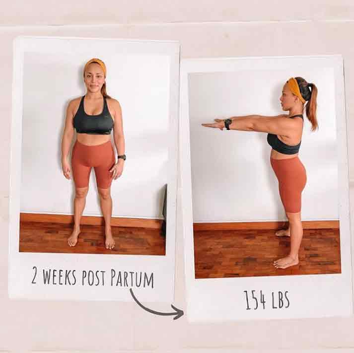 Erika Padilla Post partum body