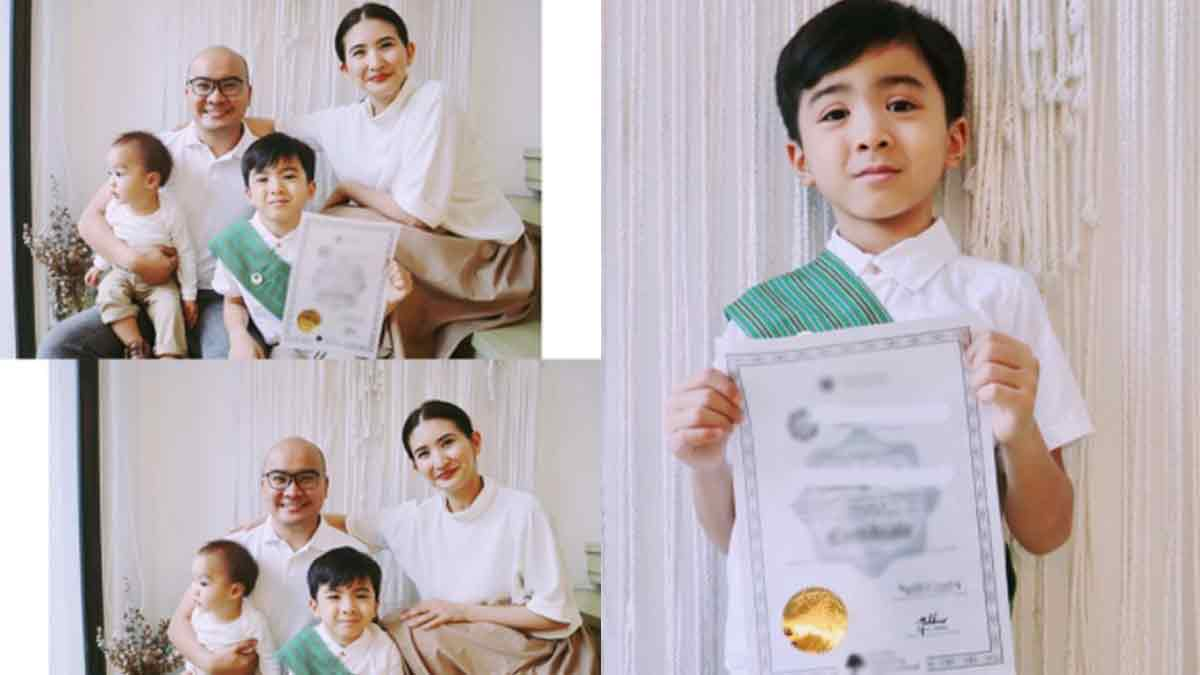 Rica Peralejo writes bittersweet truth about motherhood as son Philip moves up to Grade 1