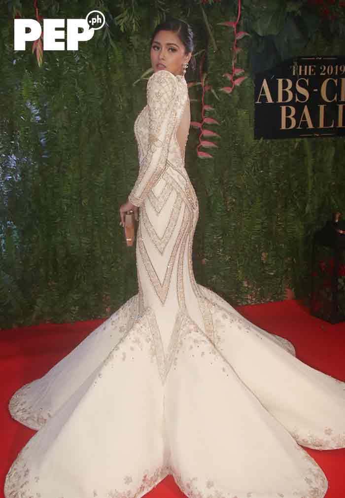 Kim Chiu wears a terno designed by Benj Leguiab IV at ABS-CBN Ball 2019
