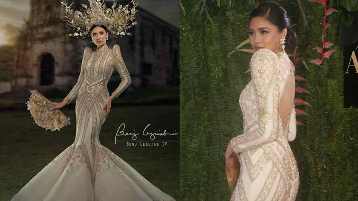 Miss Catanduanes Sigrid Flores and Kim Chiu wear same Benj Leguiab IV dress