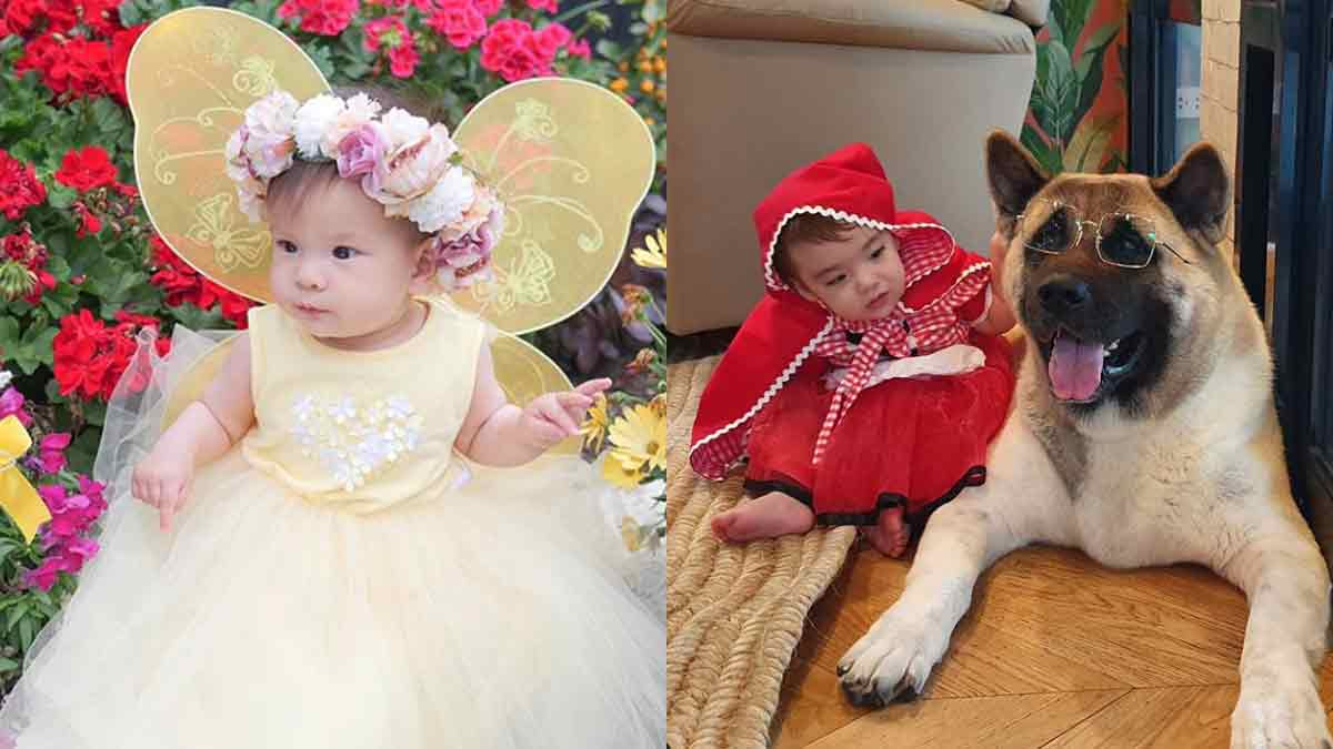 Dahlia Heussaff and Thylane Bolzico dress up for their first Halloween costume party