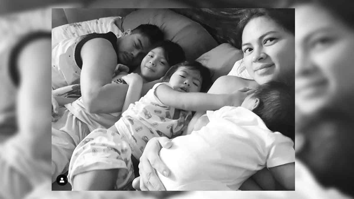 Lara Quigaman and Marco Alcaraz show what family life is now with three boys