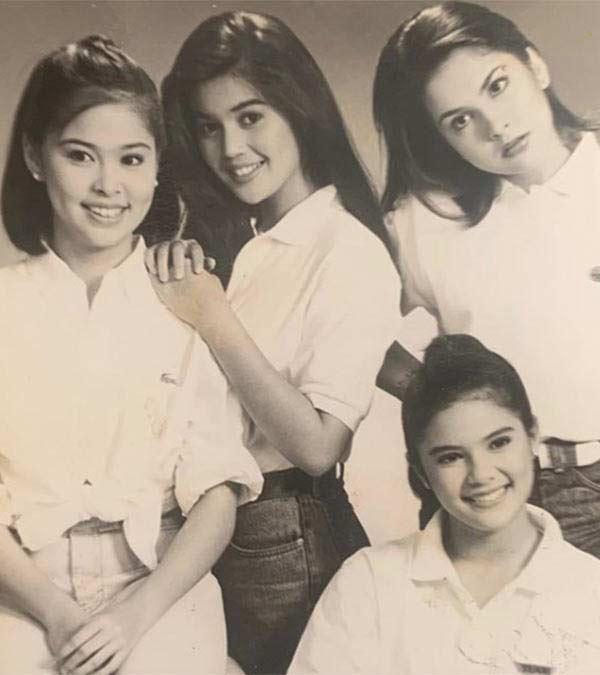 Angelu de Leon with Donna Cruz, Ana Roces, and Vina Morales in Kadenang Bulaklak.