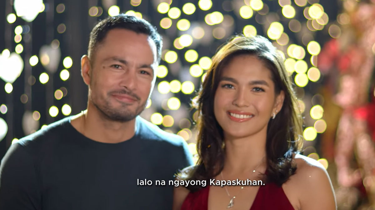 Derek Ramsay and Andrea Torres in GMA-7 Christmas station ID 2020