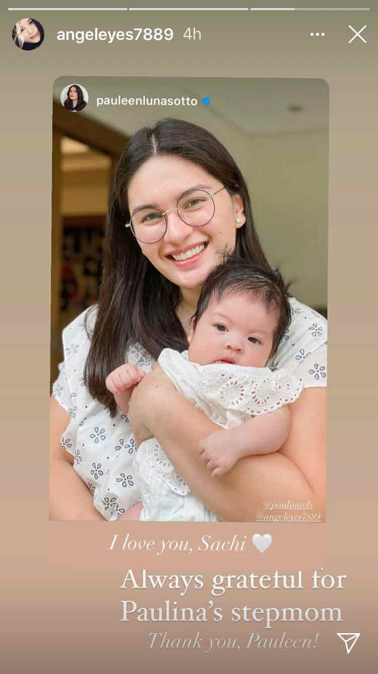 Pauleen Luna with her apo, Paulina Sotto's daughter Sachi Llanes