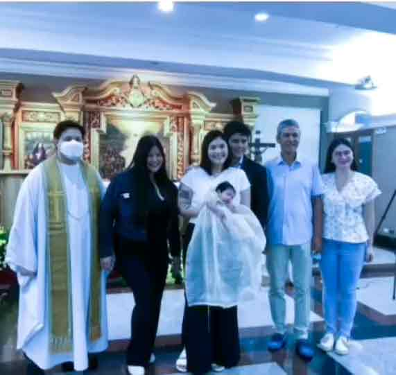 Paulina Sotto and Jed Llanes welcome daughter Sachi Llanes to the Christian world