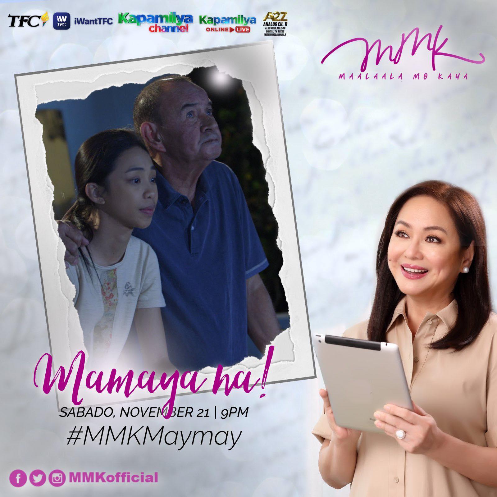 Maymay Entrata, Dante Rivero, Charo Santos-Concio in Maalaala Mo Kaya promo material