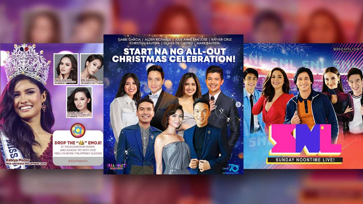 ASAP Natin 'To, All-Out Sundays, Sunday Noontime Live