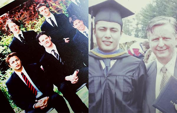 Derek Ramsay college graduation