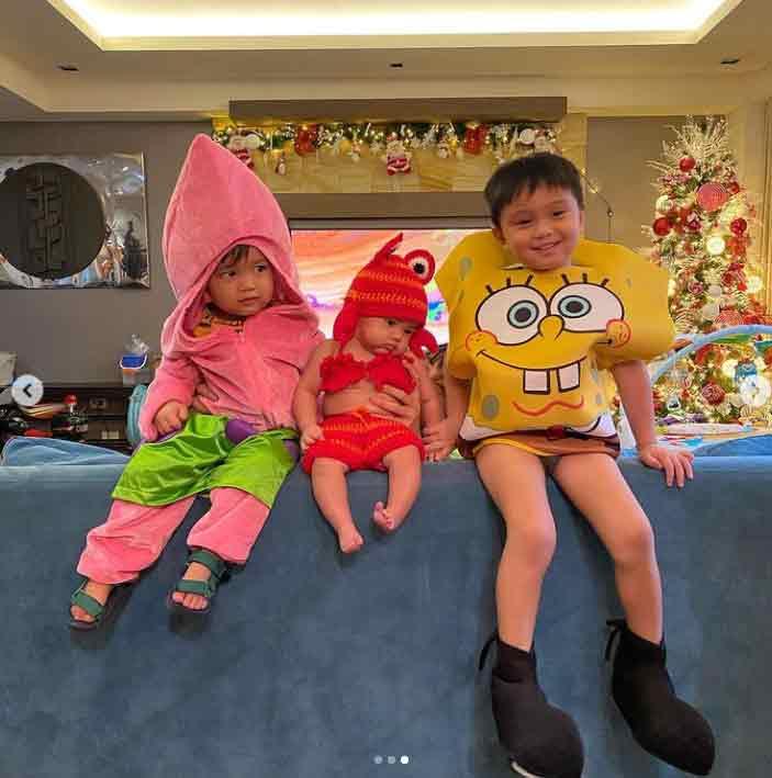 The kids of Drew Arellano and Iya Villania: Leon, Alana, and Primo