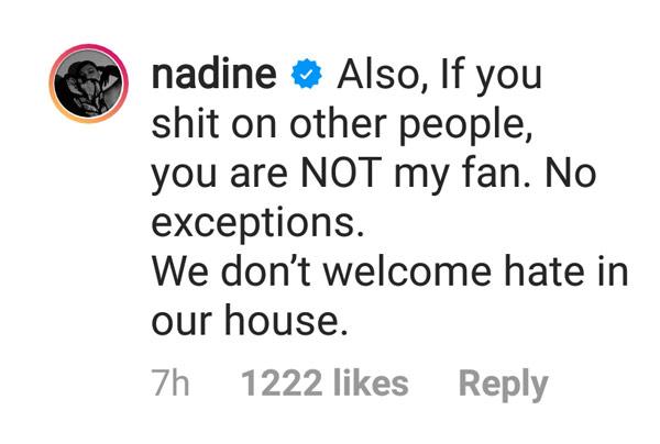 Nadine Lustre bashers haters