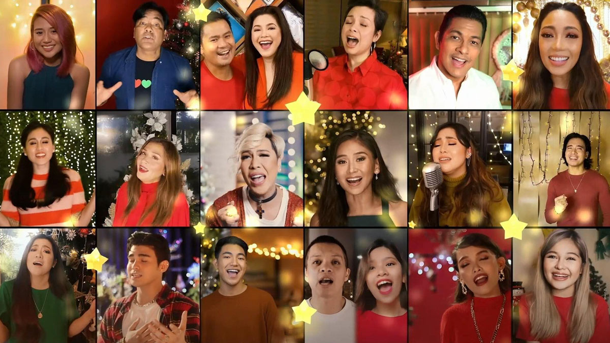 Singers of ABS-CBN Christmas station ID 2020